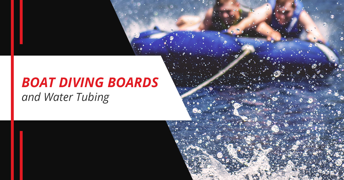 Boat Diving Boards and Water Tubing