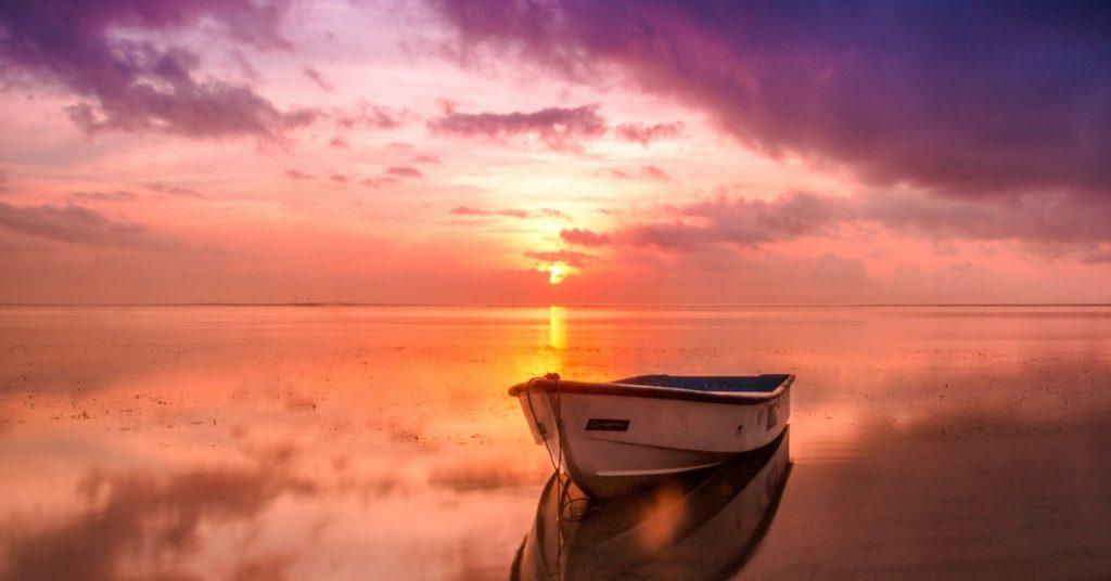 sunset from boat lillipad marine boat diving board